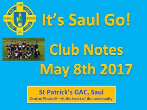 Club Notes 8th May 2017